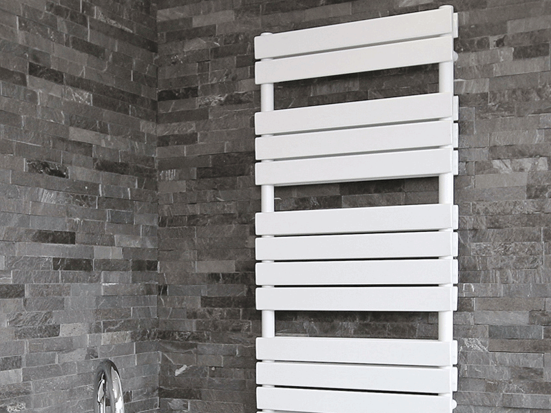 Aqualla source white matt radiator