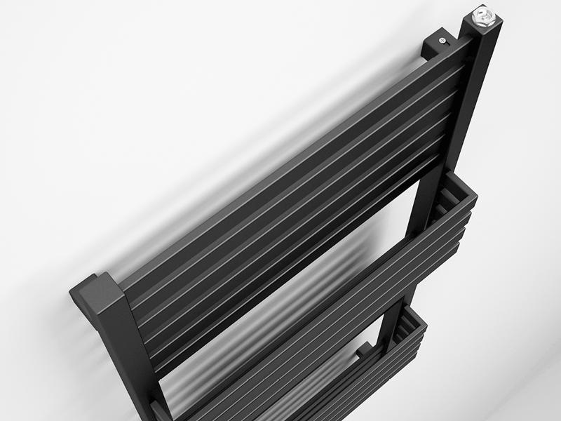 Bauhaus seattle dark grey radiator