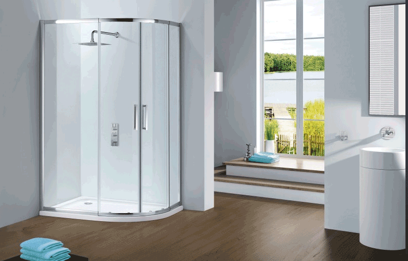 Fllair capella shower door enclosure