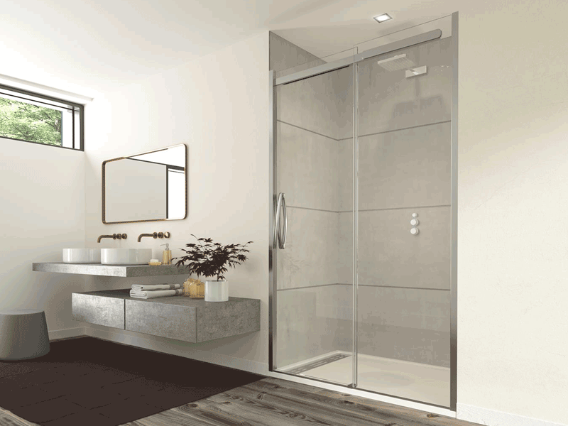 Flair oro shower slider enclosure