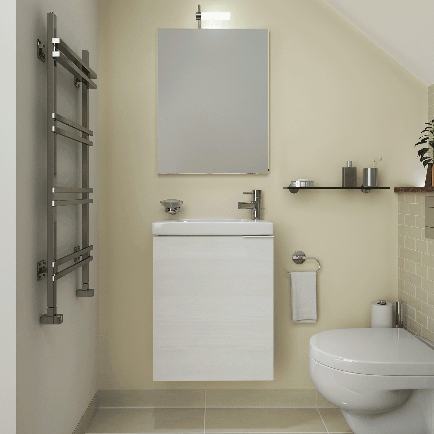 To View A Full Range Of Suitable Cloakroom Bathroom Products Please Visit  One Of Our Showrooms.