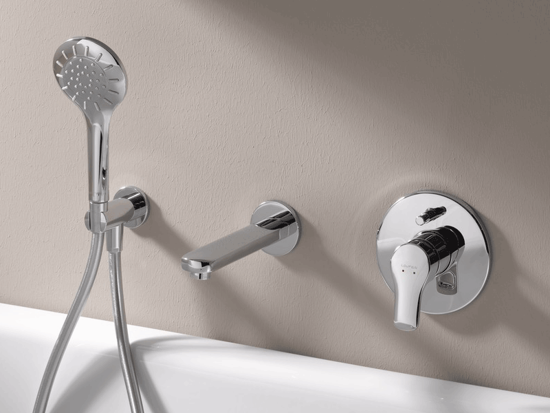 Laufen citypro wall mounted mixer
