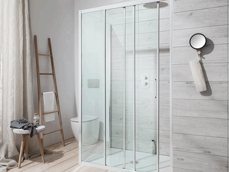 Simpson edge shower enclosure