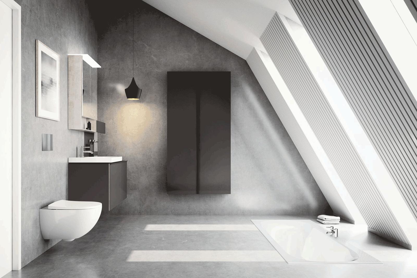 Geberit acanto small space bathroom