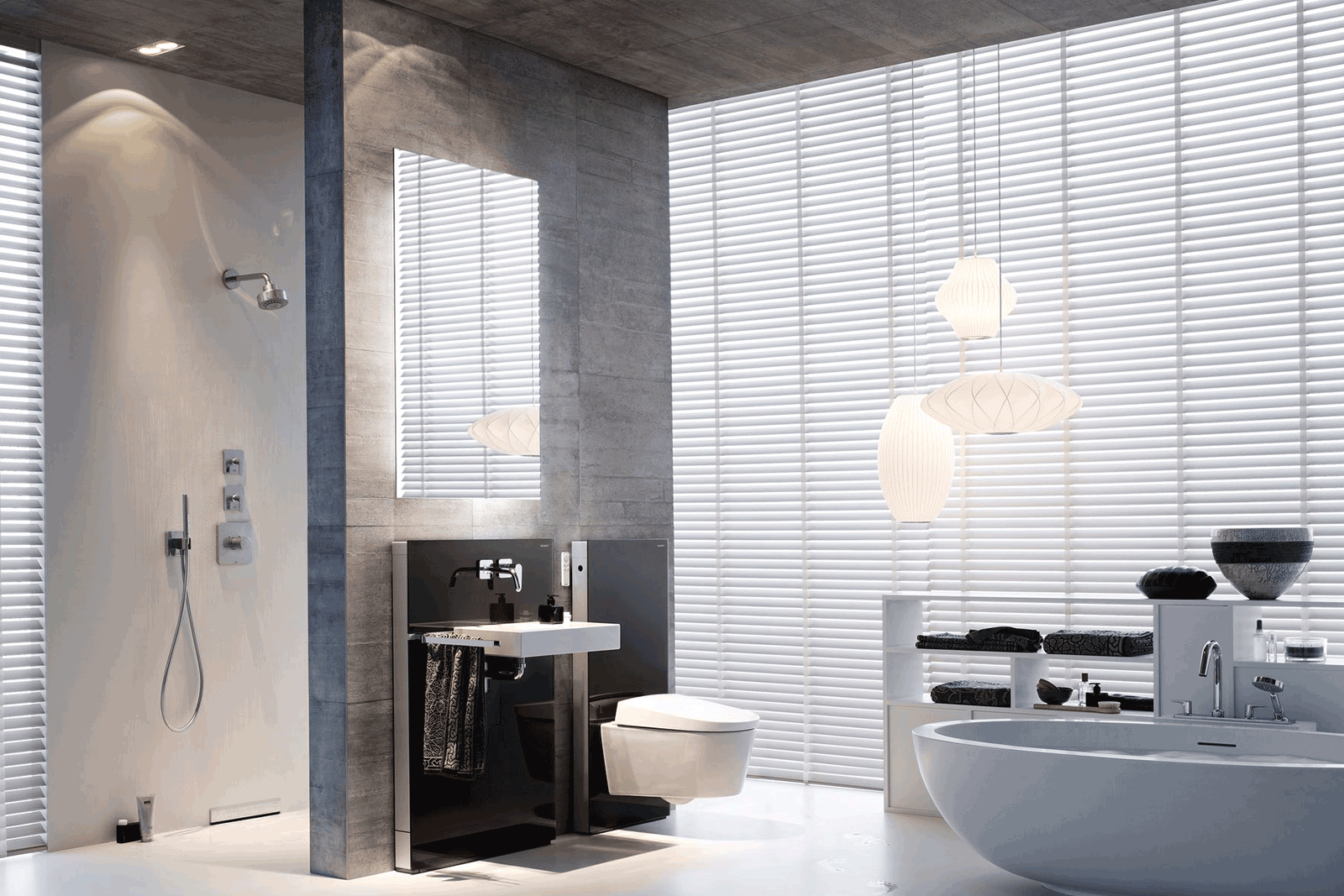 Geberit aquaclean sela bathroom