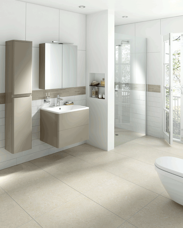 Hib glyde oyster wetroom roomset