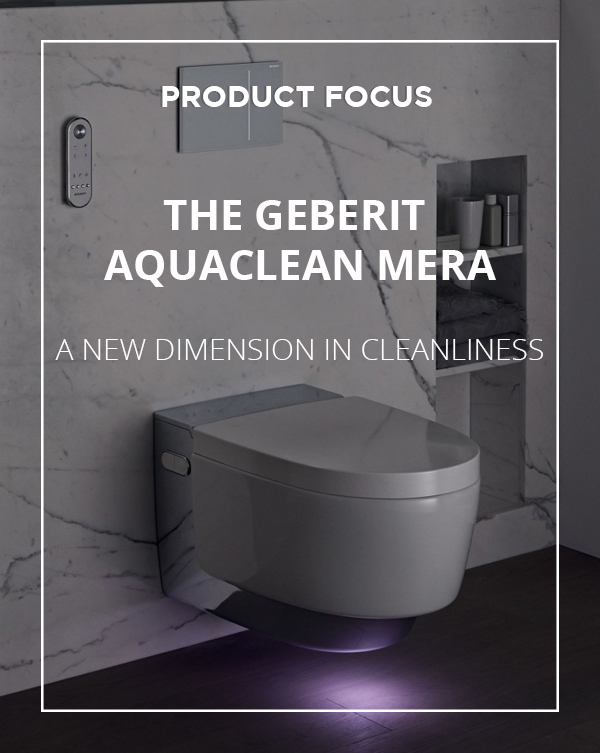 The Geberit Aquaclean Mera Toilet Shower available from BATHLINE