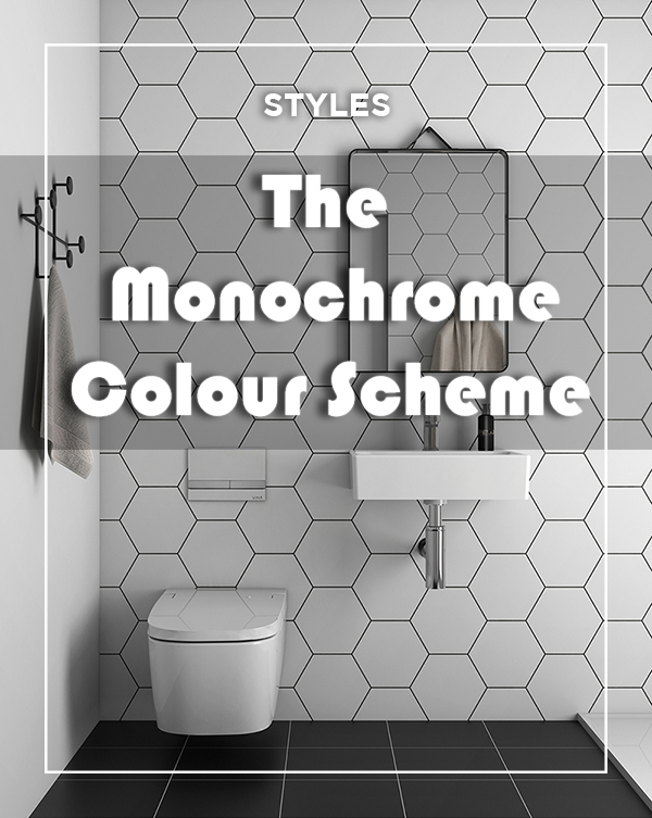 Bathroom Monochrome Colour Scheme