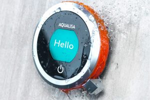 Close Up of an Aqualisa Q Digital Shower available from BATHLINE- Bathrooms at Haldane Fisher.
