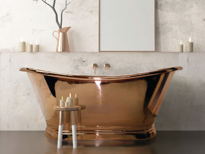 Copper-boat-bath
