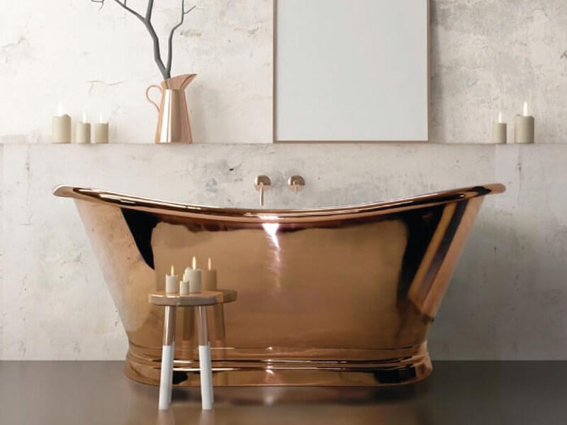 Copper-boat-bath