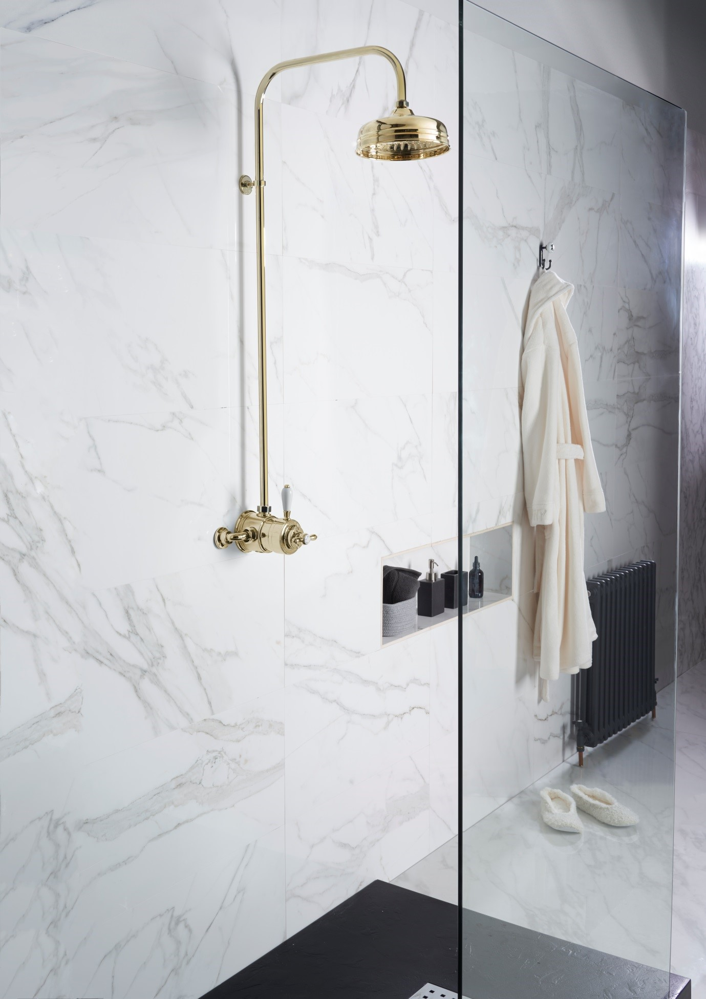 Aqualisa Aquatique showering brassware available from BATHLINE bathrooms.