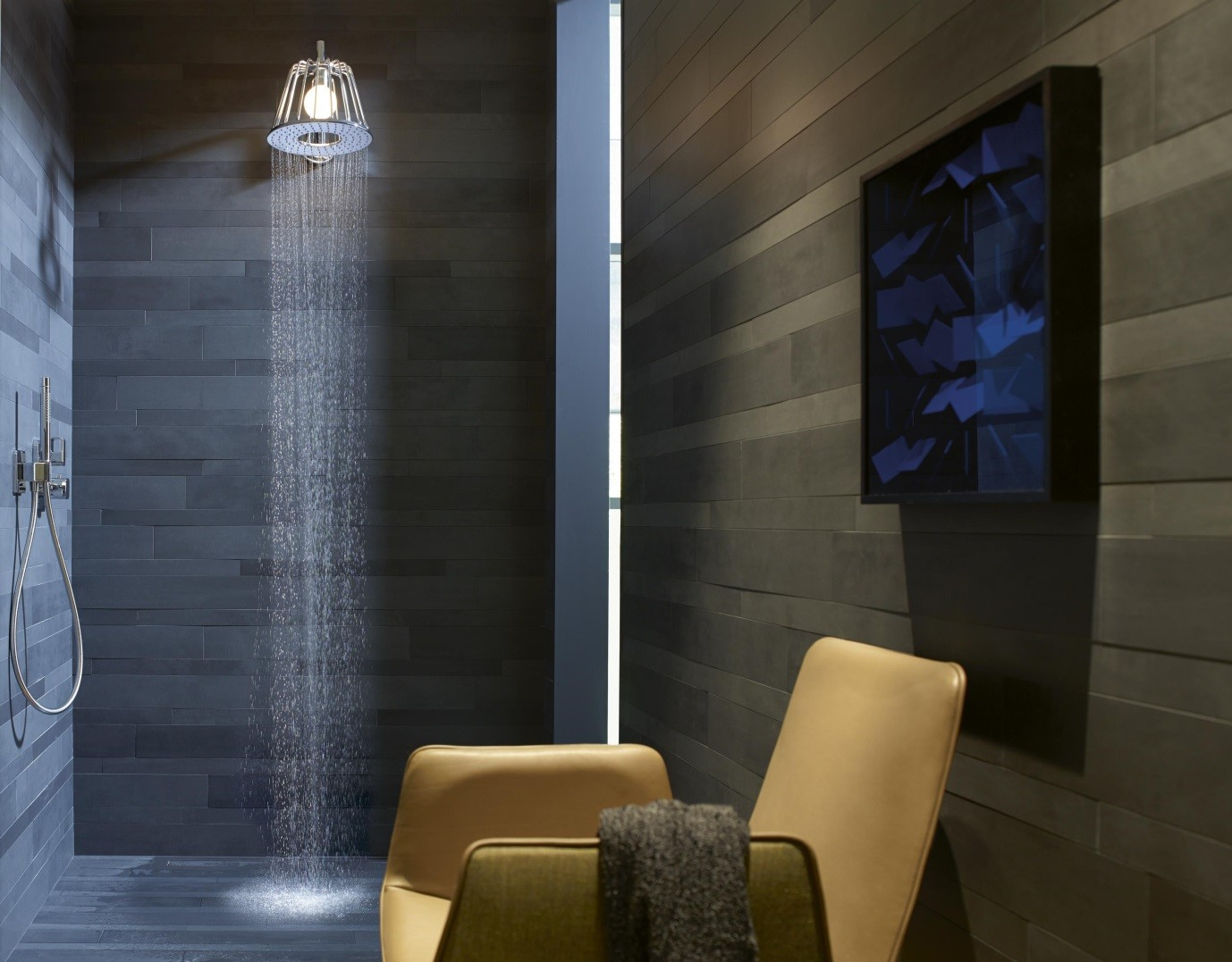 Hansgrohe Axor Lamp showerhead available from BATHLINE Bathrooms.