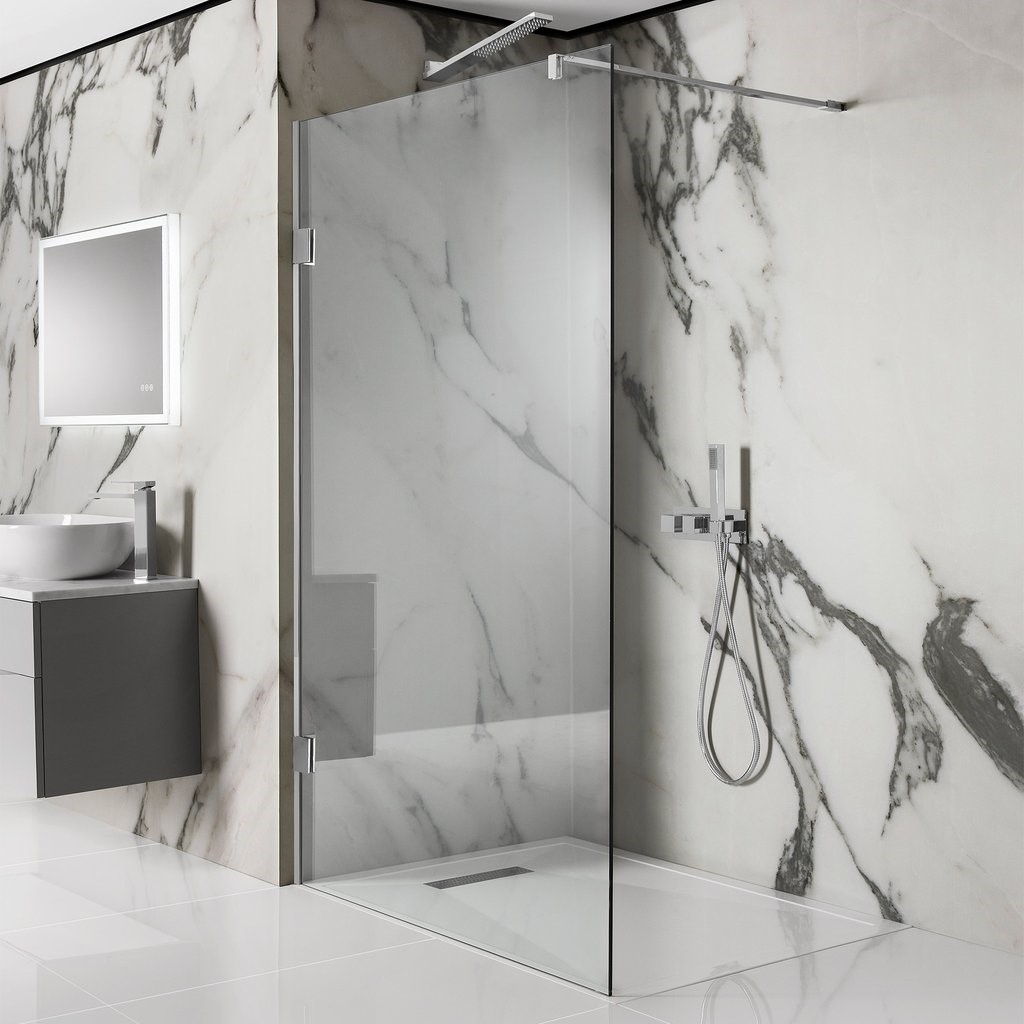 The Crosswater Zion wetroom shower panel available from BATHLINE Bathrooms.