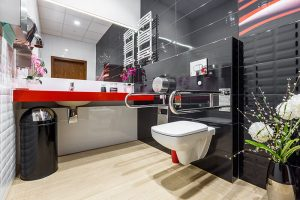Modern Disabled Bathroom available from BATHLINE