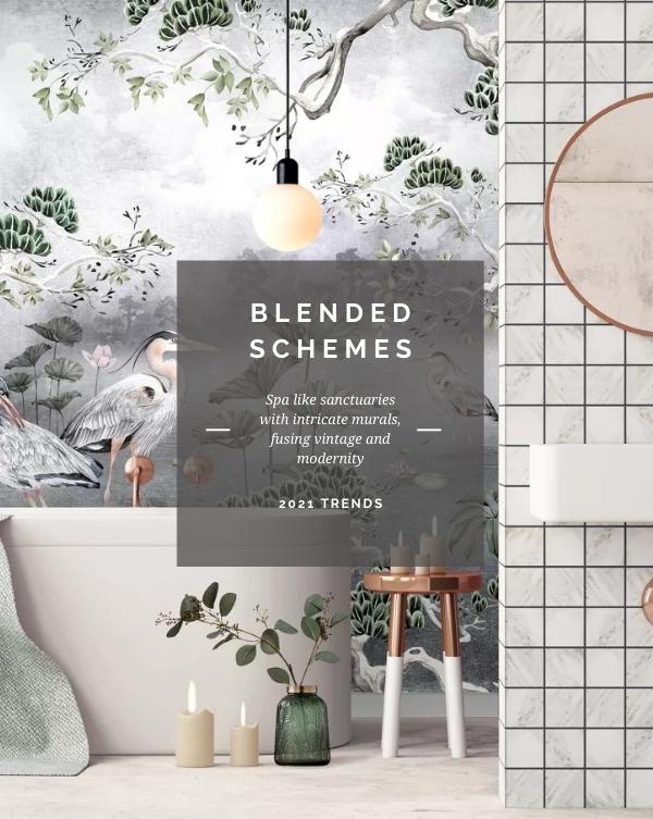 Blended Schemes, Bathroom Design Trends 2021